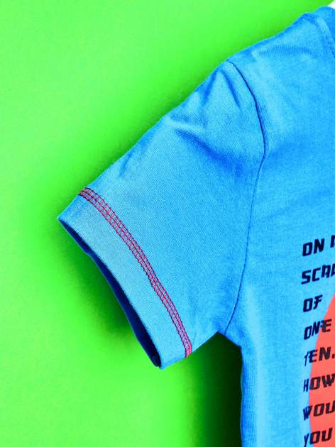 Niebieski t-shirt chłopięcy WIELKA SZÓSTKA                                  zdj.                                  6