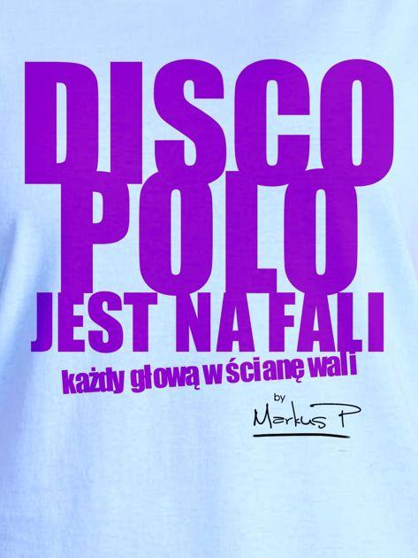 Niebieski t-shirt damski DISCO POLO NA FALI by Markus P                                  zdj.                                  2