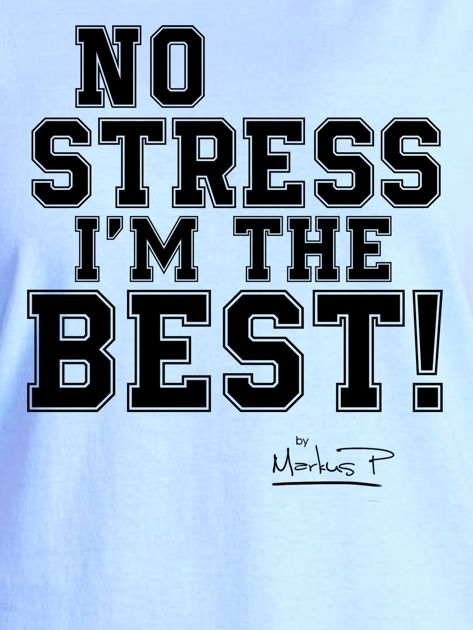 Niebieski t-shirt damski I'M THE BEST! by Markus P                                  zdj.                                  2