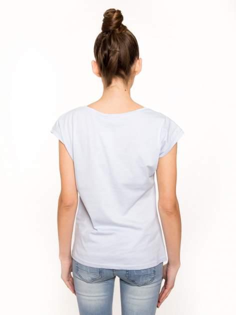 Niebieski t-shirt hipster z numerkiem                                  zdj.                                  3