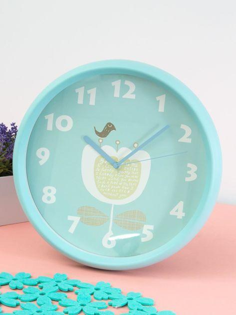 Niebieski zegar ścienny                               zdj.                              2
