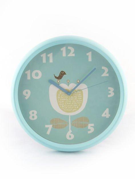 Niebieski zegar ścienny                               zdj.                              3