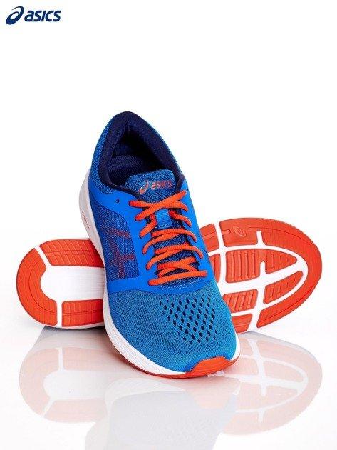 Niebieskie buty męskie sportowe ASICS RoadHawk FF                              zdj.                              4
