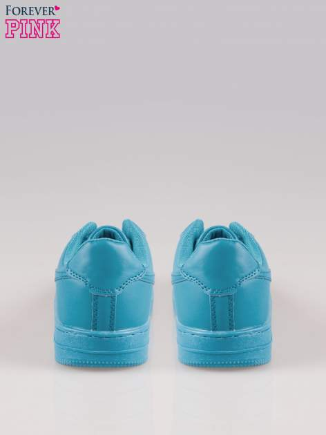 Niebieskie buty sportowe faux leather Your Move na grubej podeszwie                                  zdj.                                  3