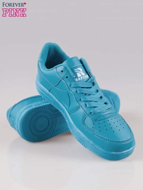 Niebieskie buty sportowe faux leather Your Move na grubej podeszwie                                  zdj.                                  4