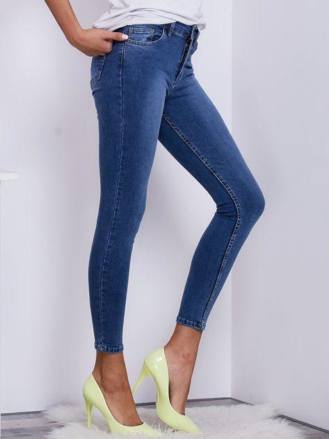 Niebieskie jeansowe rurki ze stretchem                              zdj.                              5