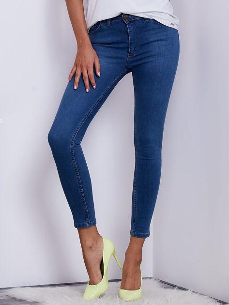 Niebieskie jeansowe spodnie ze stretchem                               zdj.                              1
