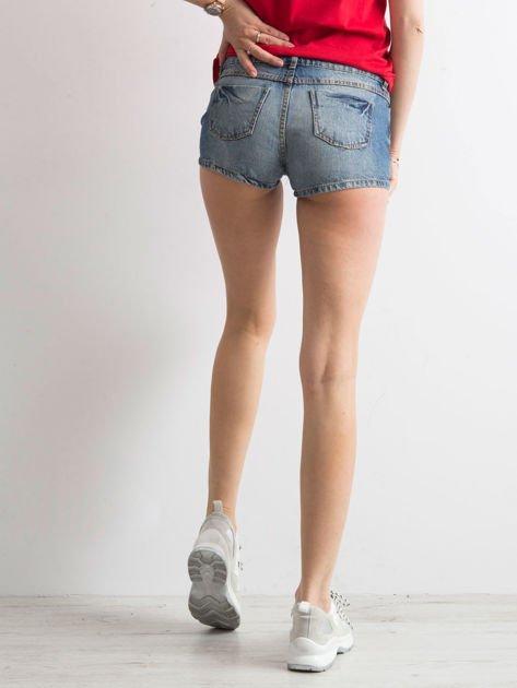 Niebieskie jeansowe szorty                              zdj.                              2