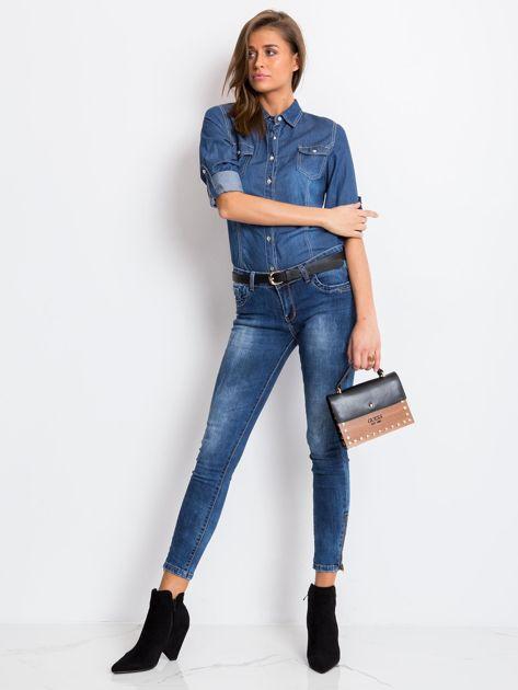 Niebieskie jeansy Bottom                              zdj.                              4