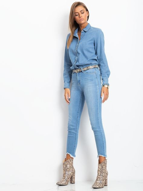 Niebieskie jeansy Carlita                              zdj.                              4