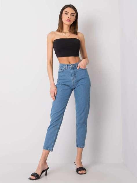 Niebieskie jeansy mom Raveena RUE PARIS
