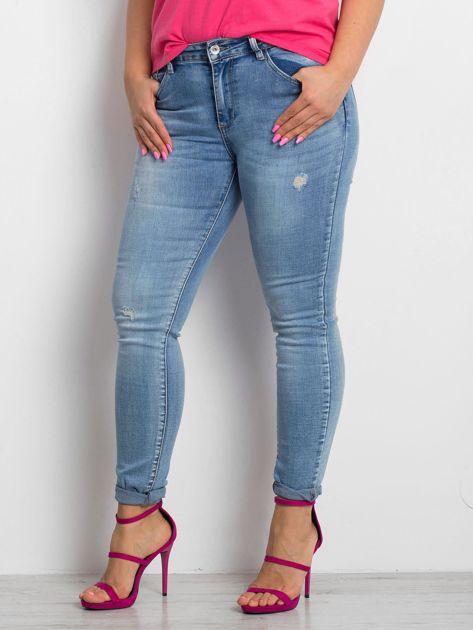 Niebieskie jeansy plus size Undecided                              zdj.                              1