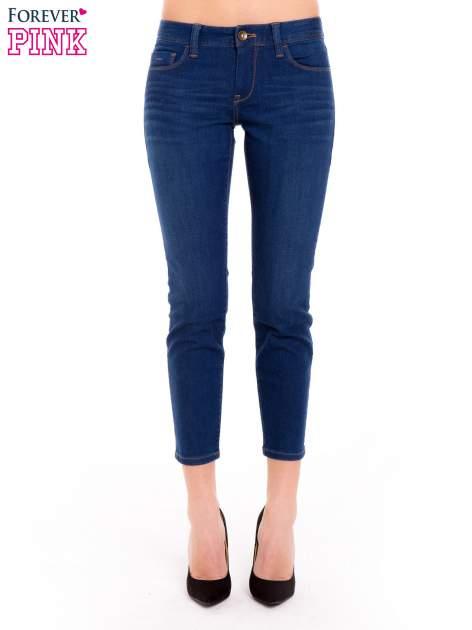 Niebieskie jeansy skinny ze średnim stanem                                  zdj.                                  1