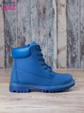 Niebieskie jednolite buty trekkingowe Westie damskie traperki ocieplane                                  zdj.                                  2