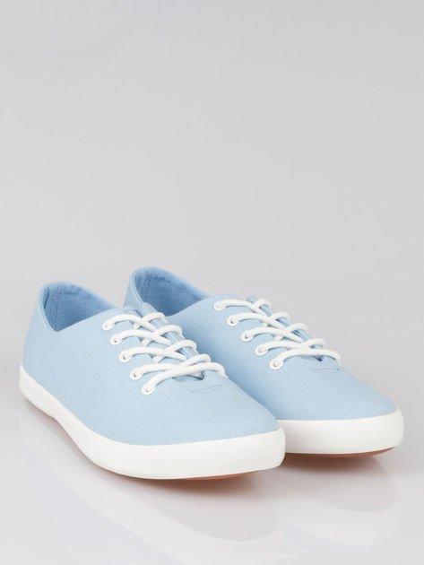 Niebieskie klasyczne tenisówki Blue Sky                                  zdj.                                  2