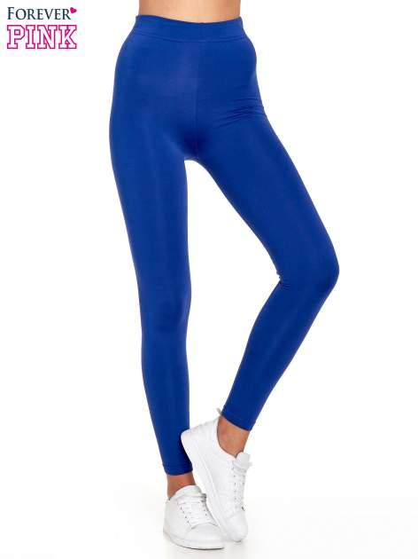 Niebieskie legginsy basic z lekkim ociepleniem                                  zdj.                                  1