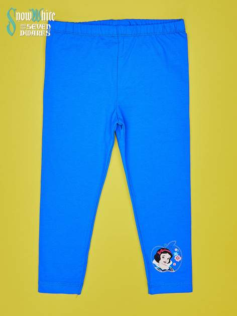 Niebieskie legginsy dla dziewczynki KRÓLEWNA ŚNIEŻKA                                  zdj.                                  1