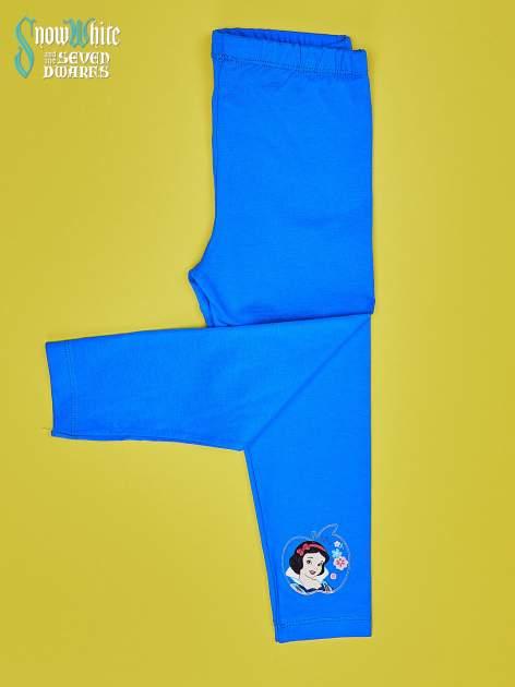 Niebieskie legginsy dla dziewczynki KRÓLEWNA ŚNIEŻKA                                  zdj.                                  3