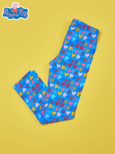 Niebieskie legginsy dla dziewczynki ŚWINKA PEPPA                                  zdj.                                  2