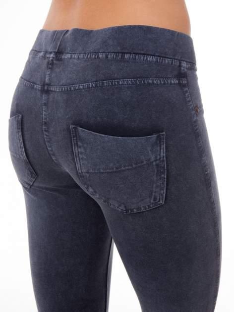 Niebieskie legginsy typu jegginsy                                  zdj.                                  7