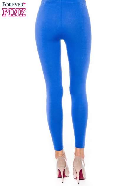 Niebieskie legginsy z bawełny                                  zdj.                                  3