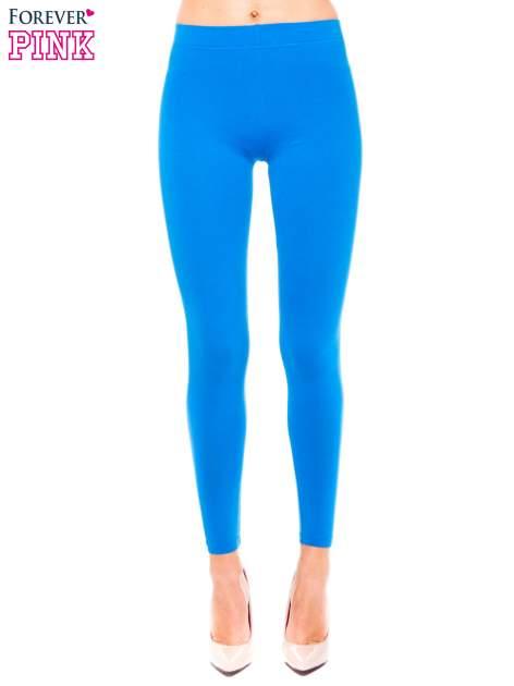 Niebieskie legginsy z bawełny                                  zdj.                                  1