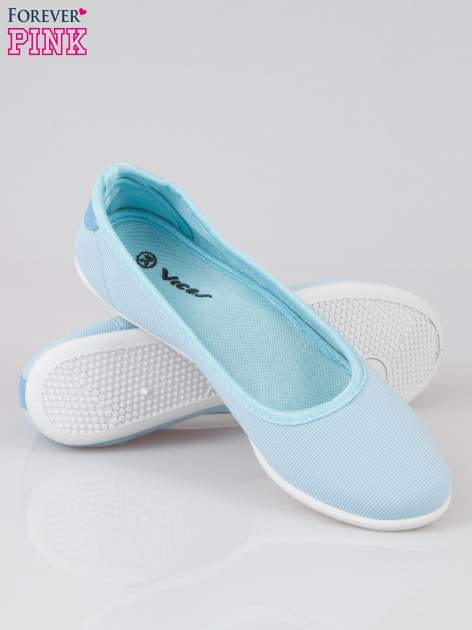 Niebieskie lekkie balerinki Cute Blush slip on                                  zdj.                                  4
