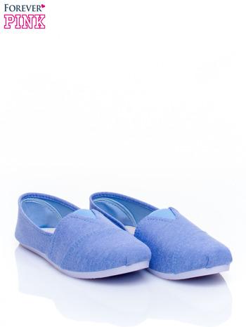 Niebieskie lekkie buty slip on                                  zdj.                                  3