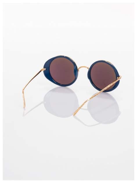 """Niebieskie lustrzanki okulary przeciwsłoneczne """"LENONKI"""" w stylu RETRO                                   zdj.                                  3"""