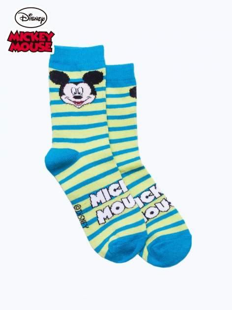 Niebieskie skarpetki chłopięce MICKEY MOUSE