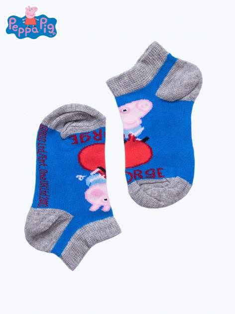 Niebieskie skarpetki chłopięce stopki ŚWINKA PEPPA