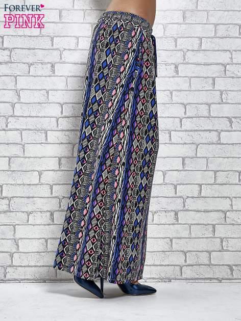 Niebieskie spódnica maxi w zteckie wzory                                  zdj.                                  3