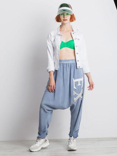 Niebieskie spodnie Halfway                              zdj.                              4