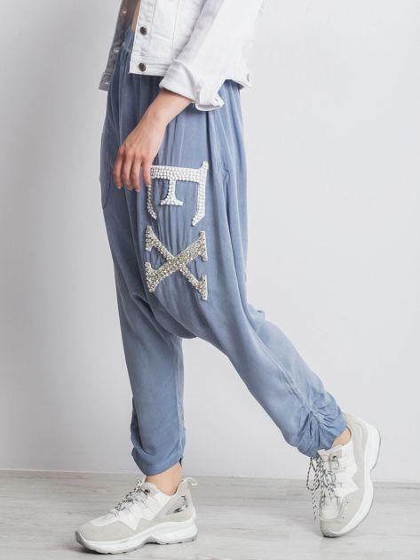 Niebieskie spodnie Halfway                              zdj.                              3