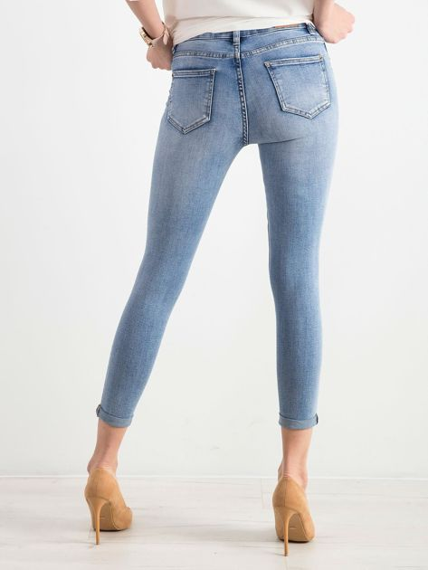 Niebieskie spodnie jeansowe damskie                              zdj.                              2