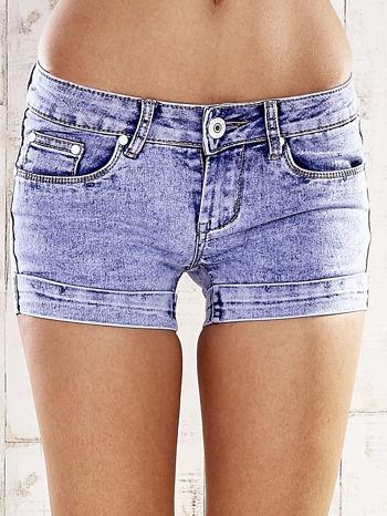 Niebieskie szorty jeansowe marble denim