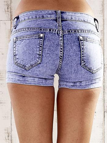 Niebieskie szorty jeansowe marble denim                                  zdj.                                  2