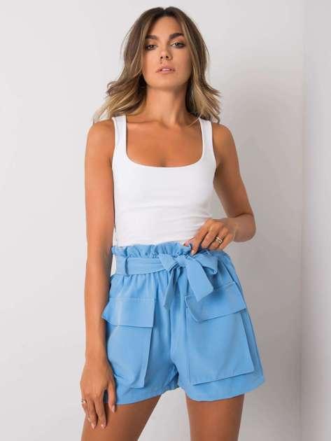 Niebieskie szorty z kieszeniami Destinee