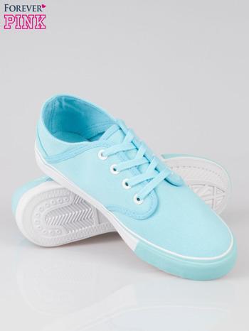 Niebieskie tenisówki z błękitnym wykończeniem Heaven                                  zdj.                                  4
