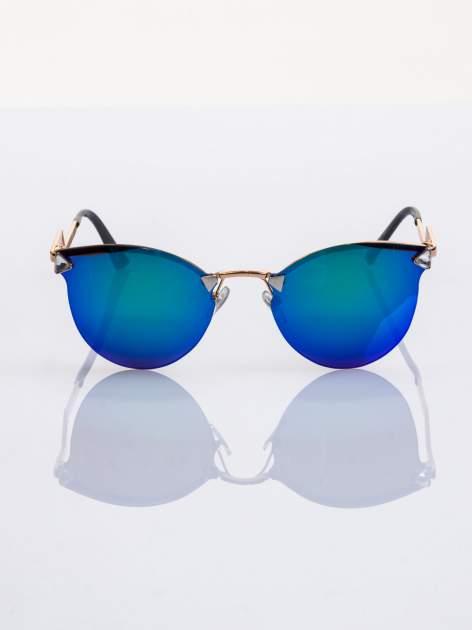 Niebiesko-zielone okulary przeciwsłoneczne stylizowane na FENDI                                  zdj.                                  3