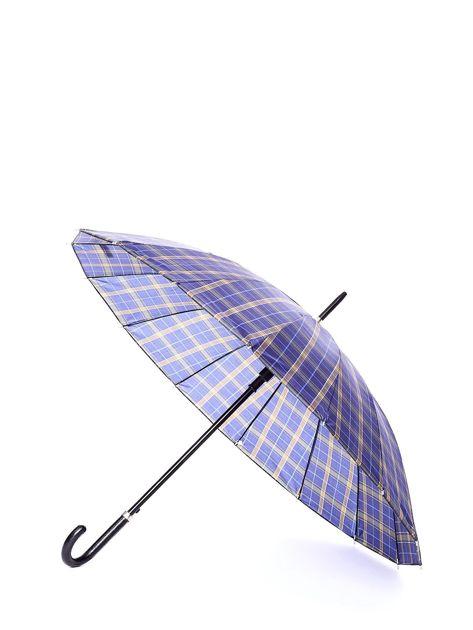 Niebiesko-żółty parasol w kratkę                              zdj.                              1