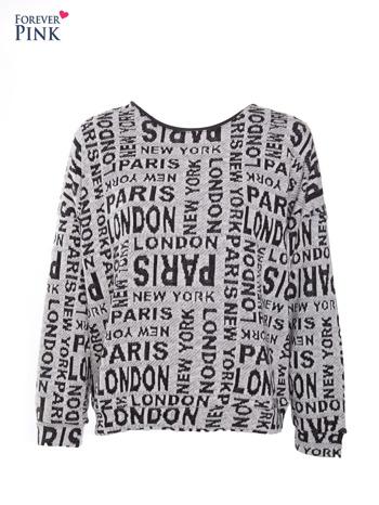 Nietoperzowa bluzka z motywem fashion                                  zdj.                                  1