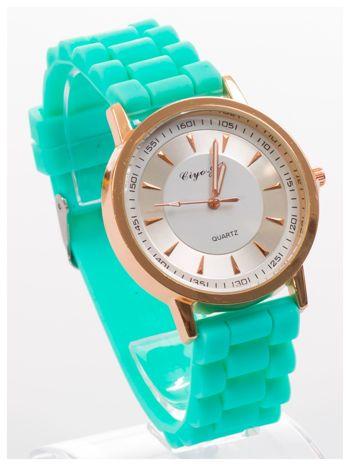 Nowoczesny i elegancki damski zegarek na wygodnym silikonowym pasku. Doskonały na każdą okazję.                                   zdj.                                  3