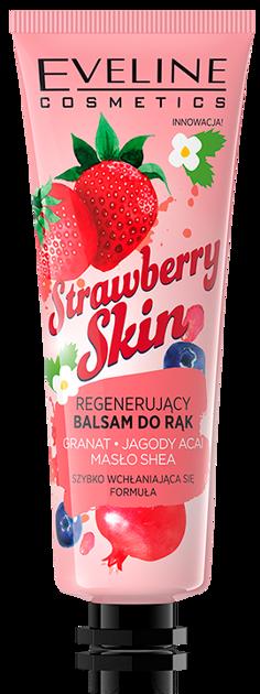 Nowość! EVELINE TRUSKAWKOWY REGENERUJĄCY BALSAM DO RĄK Strawberry Skin 50 ML                              zdj.                              1