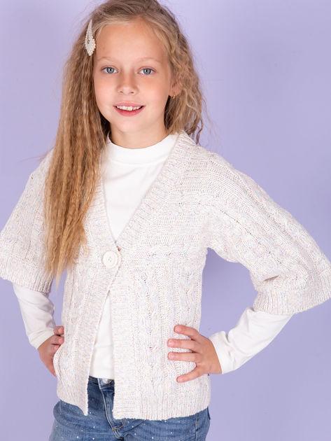 O'NEILL Beżowy sweter dla dziewczynki