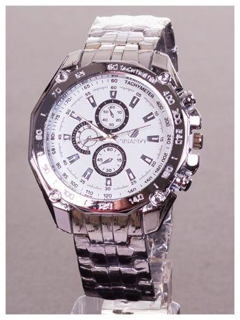 ORLANDO Potężny męski zegarek na srebrnej bransolecie                                  zdj.                                  1