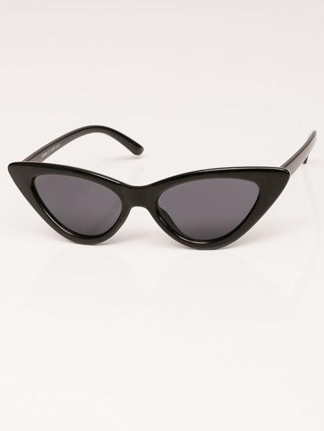 VIP LIFE Okulary przeciwsłoneczne damskie czarne szkło szare                              zdj.                              1