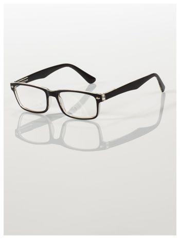Okulary korekcyjne +2.0 D ,model WAYFARER do czytania z systemem FLEX na zausznikach +GRATIS PLASTIKOWE ETUI I ŚCIERECZKA Z MIKROFIBRY                                  zdj.                                  2