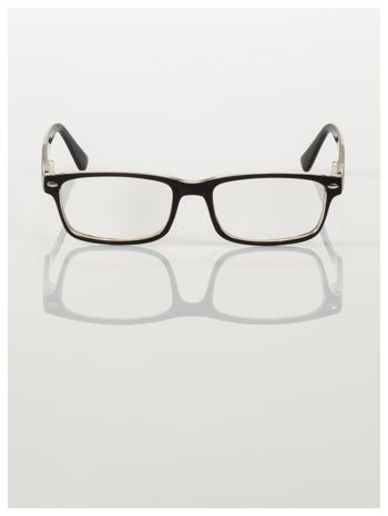 Okulary korekcyjne +3.0 D ,model WAYFARER do czytania z systemem FLEX na zausznikach +GRATIS PLASTIKOWE ETUI I ŚCIERECZKA Z MIKROFIBRY                                  zdj.                                  3
