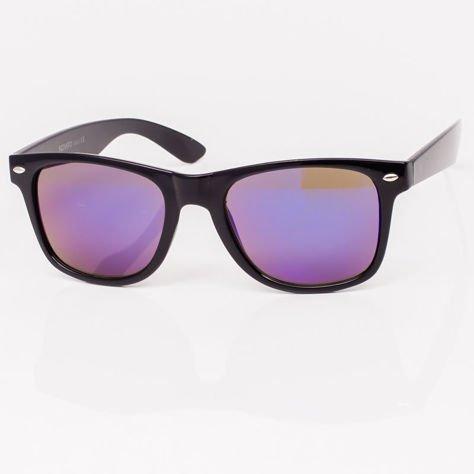 Okulary przeciwsłoneczne Typu WAYFARER Niebieskie                              zdj.                              3